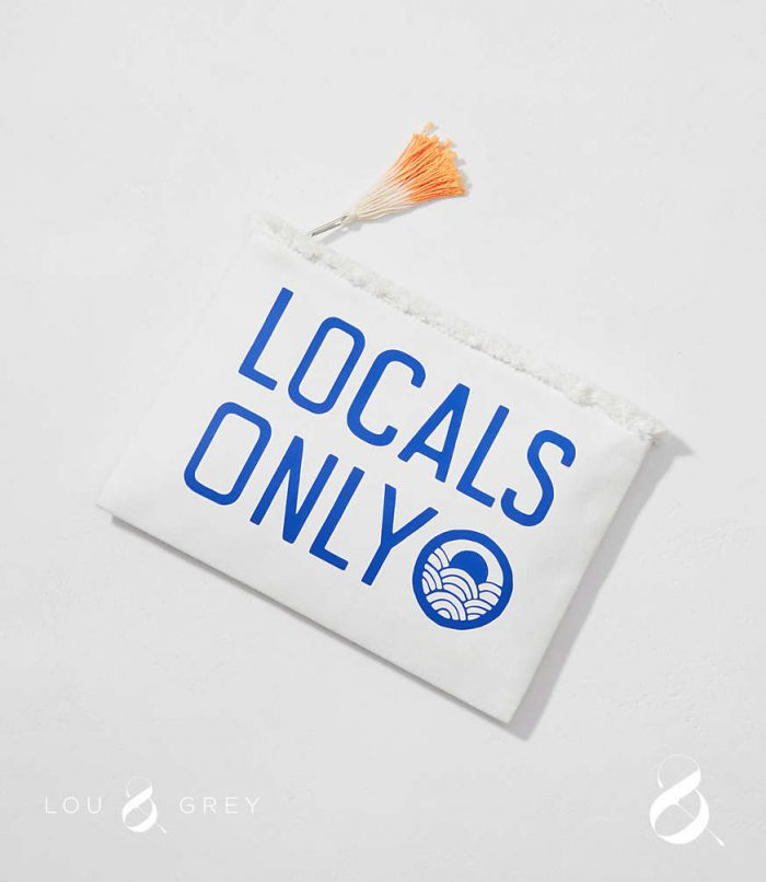 Sundry Locals Only Zip Pouch
